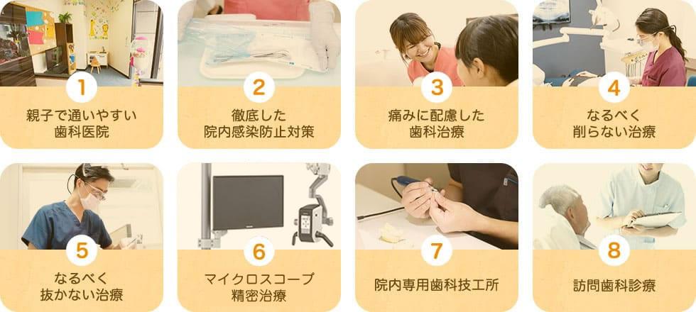 8つの特徴